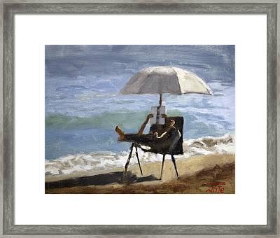 Ocean Reader Framed Print