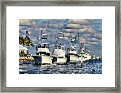 Ocean Reef Framed Print by Carey Chen