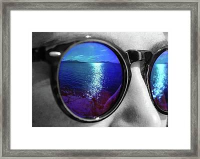 Ocean Reflection Framed Print