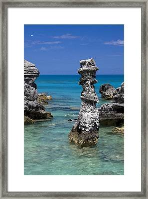 Ocean Rock Formations Framed Print