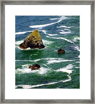 Ocean Rock Framed Print by Marty Koch