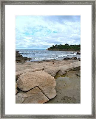 Ocean Rocks - Nova Scotia Framed Print