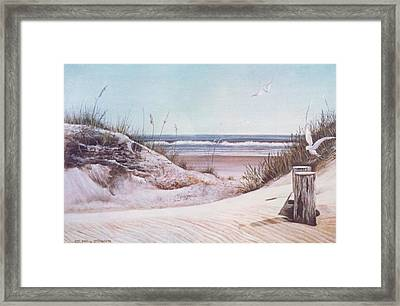 Ocean Sands Framed Print by Charles Roy Smith