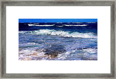 Ocean Scene In Abstract 14 Framed Print