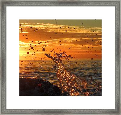 Ocean Splash Framed Print