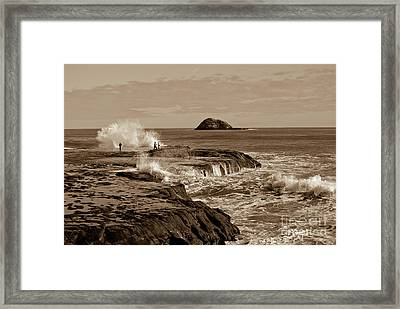 Framed Print featuring the photograph Ocean Splash by Yurix Sardinelly