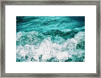 Ocean Splashes Framed Print by Wim Lanclus