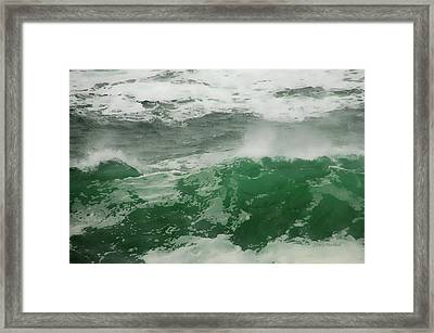 Ocean Spray Framed Print by Donna Blackhall