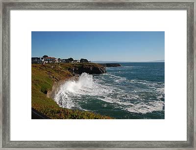 Ocean Spray In Santa Cruz Framed Print