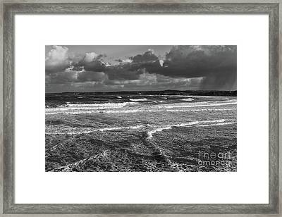 Framed Print featuring the photograph Ocean Storms by Nicholas Burningham