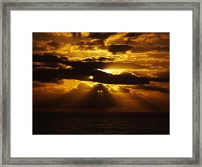 Outer Banks Rodanthe, Nc Golden Sunrise B Framed Print by Cindy Treger