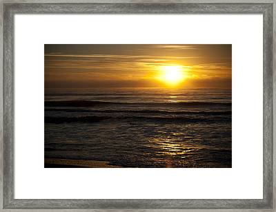 Ocean Sunrise Framed Print by Christina Durity