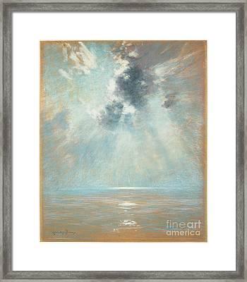 Ocean Sunrise Framed Print by MotionAge Designs