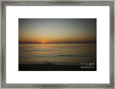 Ocean Sunset Framed Print by Brandon Tabiolo - Printscapes