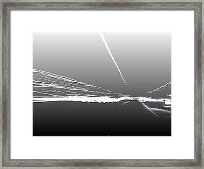 Ocean Sunset Fogbank Framed Print by Curtis Schauer