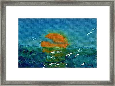 Ocean Sunset Framed Print by Paintings by Gretzky