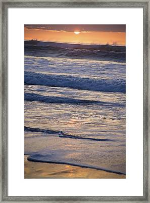 Ocean Sunset Framed Print by Joyce Sherwin