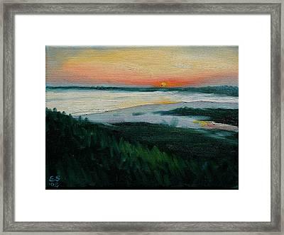 Ocean Sunset No.1 Framed Print by Erik Schutzman