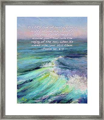 Ocean Symphony With Bible Verse Framed Print