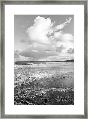 Framed Print featuring the photograph Ocean Texture Study by Nicholas Burningham
