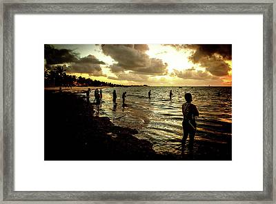 Ocean Thinker Framed Print