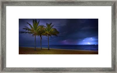 Ocean Thunderstorm Framed Print