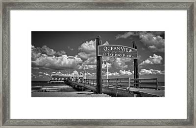 Ocean View Fishing Pier Framed Print