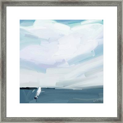 Ocean View From Fire Island Framed Print