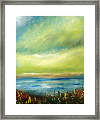 Ocean View From The Beach House Framed Print by Patricia Taylor