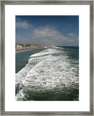 Ocean View Framed Print by Kim Pascu