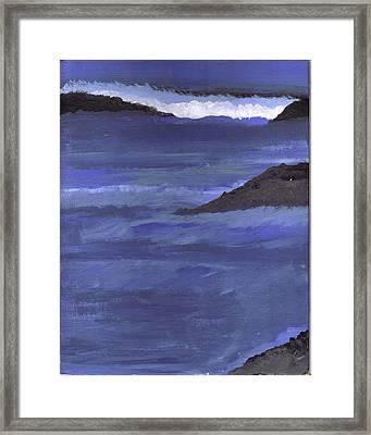 Ocean View Framed Print by Lynnette Jones