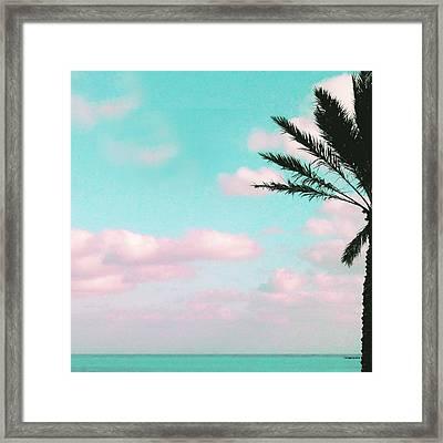 Tropical Beach, Ocean View Framed Print