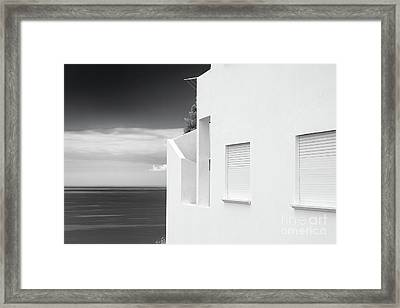 Ocean View White House Framed Print