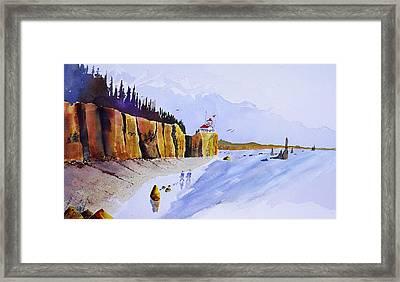 Ocean Walk Framed Print by Buster Dight