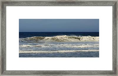 Ocean Wave - Jersey Shore Framed Print by Angie Tirado