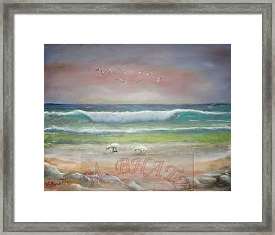 Ocean Wave Framed Print by M Bhatt