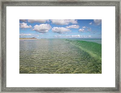 Ocean Waves And Clouds Rollin' By Framed Print