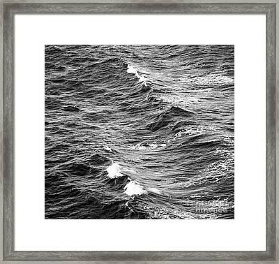 Framed Print featuring the photograph Ocean Waves Black And White by Tim Hester