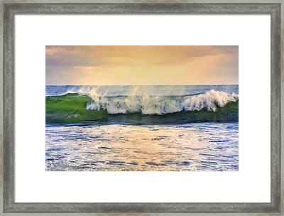 Ocean Waves Framed Print by Dapixara Art