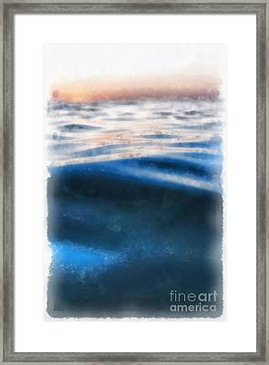 Framed Print featuring the painting Ocean Waves by Edward Fielding
