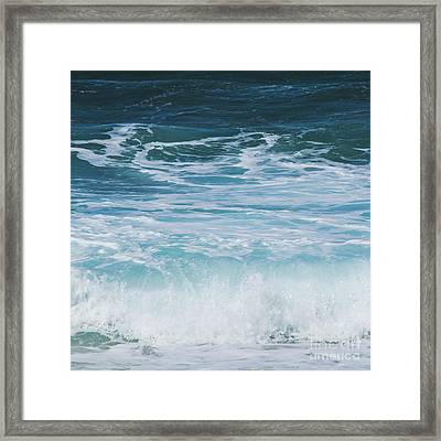 Ocean Waves From The Depths Of The Stars Framed Print by Sharon Mau