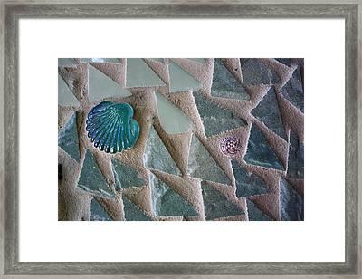 Ocean Waves Mosaic Closeup Framed Print