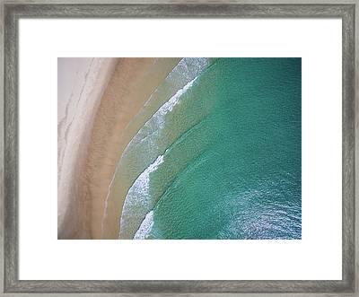 Ocean Waves Upon The Beach Framed Print