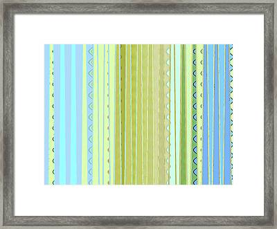 Oceana Stripes Framed Print