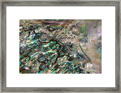 Oceanic Eruption Framed Print by Joy Gerow