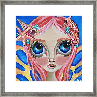 Oceanic Fairy Framed Print by Jaz Higgins