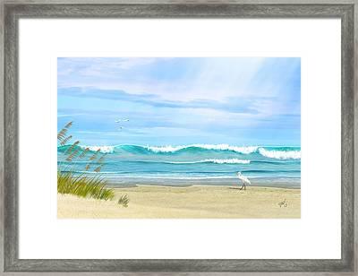 Oceanic Landscape Framed Print