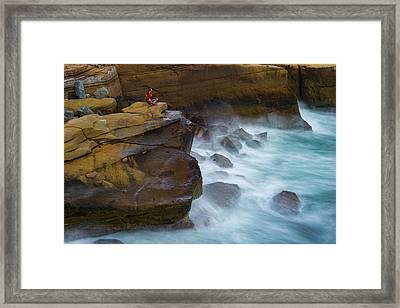 Oceanic Meditation Framed Print