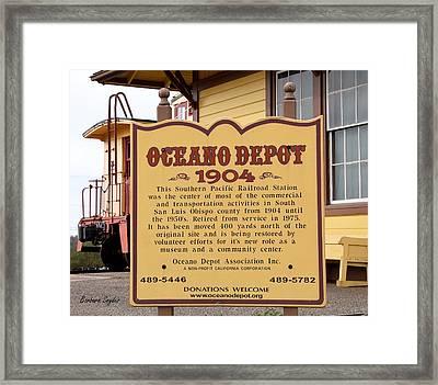 Oceano Depot 1904 Framed Print