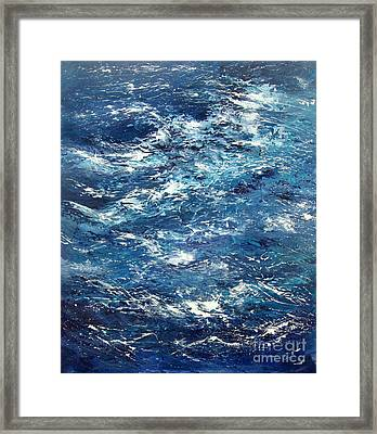 Ocean's Blue Framed Print